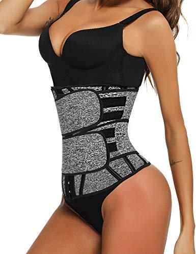 Sykooria Waist Trainer for Women - Waist Cincher Trimmer - Adjustable Corset Sweat Belt for Women Weight Loss Workout Fitness