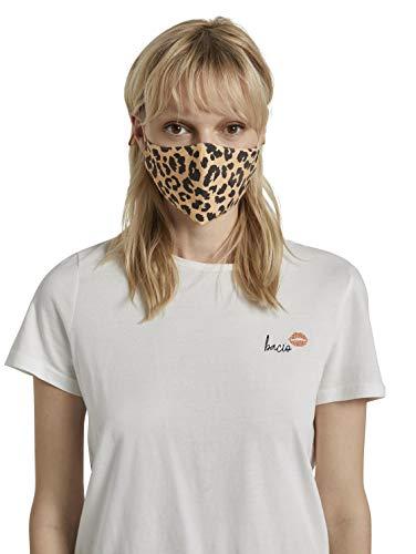 TOM TAILOR Unisex Stoffmaske wiederverwendbar, Leopard All Over, Einheitsgröße