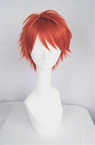 LanTing Cosplay Perücke Mystic Messenger 707 Red Perücke Corta Cosplay Party Fashion Anime Human Costume Full wigs Synthetic Haar Heat Resistant Fiber