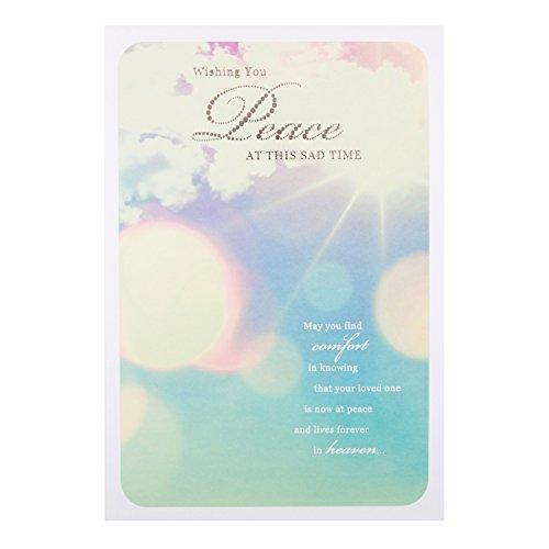 Hallmark Sympathy Card 'Wishing You Peace' - Medium [Old Model]