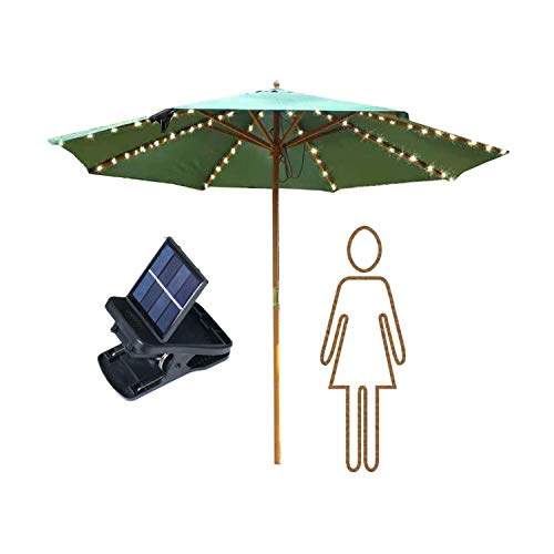 VOOKRY Patio Umbrella Lights Solar Powered Outdoor Multi Mode 104 LED String Lights Waterproof Umbrella Pole Solar Lights for Patio Camping Tents