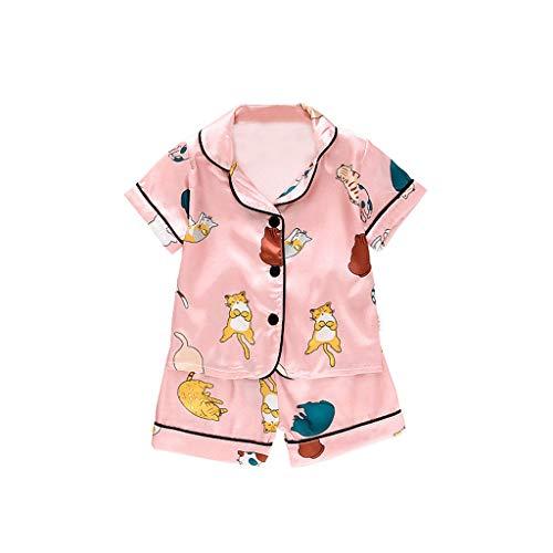 Realde Kleinkinder Jungen Mädchen Kurzarm T-Shirt Set Unisex Cartoon Druckten Kurz Hose Nachthemd Sommer Cool Beiläufige Oberteil for Kinder Jugend Teens