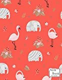 Notebook: Tropical animal Notebook and Lined pages, Extra large (8.5 x 11) inches, 110 pages, White paper (Notebook for girls)