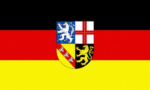 Province and County 1500mm x 900mm (5' x 3')Polyester Flagge Saarland