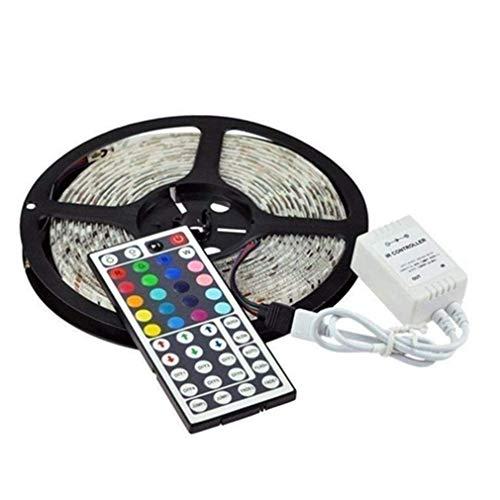eBoTrade tira de luz LED flexible de 12 V de 16.4 pies, cinta de luz LED 5050 RGB que cambia de color, impermeable, para bricolaje, Navidad, vacaciones, hogar, cocina, bar, fiesta, decoración