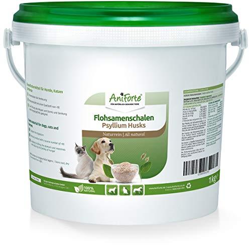AniForte cosses de psyllium 1kg pour chevaux, chiens et chats, riche en fibres et mucilages, qualité d'aliment cru indien