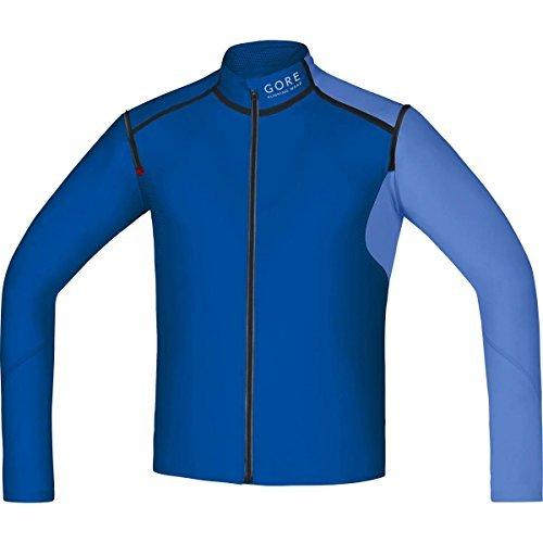 GORE RUNNING WEAR SWZULT Men's FUSION WINDSTOPPER Soft Shell Zip-Off Shirt, brilliant blue/blizzard blue, M by Gore Running Wear