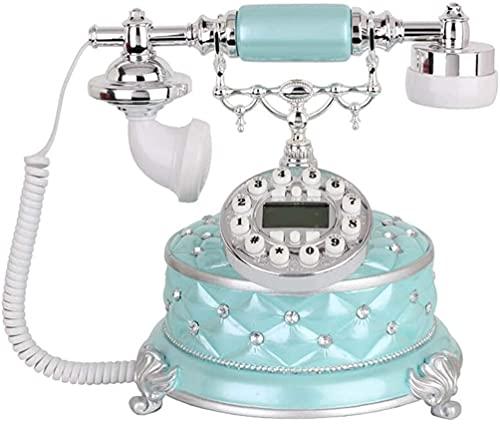 Teléfono Decorativo Teléfono Inicio Oficina Teléfono Retro, Vintage Teléfono Antiguo, Resina + Metal Metal Landline Oficina Decoración