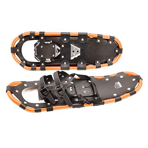 Ssmmxx 25In Erwachsene Frauen Männer Aluminium Schneeschuhe Qualität Outdoor Klettern Winter Walk Schneeschuhe Mit Einstellbaren Bindungen Tragen Tragetasche, Goldene