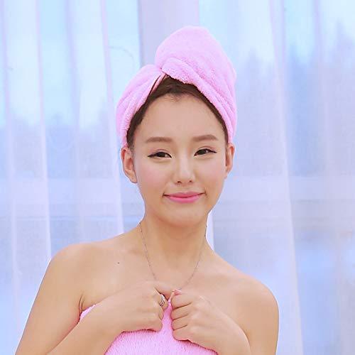 DACHENGJIN Chapeau for Cheveux à séchage Rapide Super Absorbant Chapeau for Cheveux à séchage Rapide Bonnet de Douche Serviette de Bain for Femme, Taille: 25 x 65 cm (Rose) (Color : Pink)