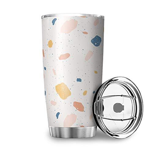 Twelve constellations Botella de agua de acero inoxidable, doble pared, resistente al vacío, con tapa, color blanco, 600 ml