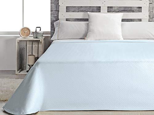 Casa Textil Copriletto matrimoniale per letto 180, Poliestere, Blu, King, 42x 34x 9cm