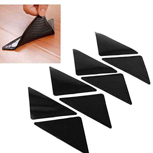 Yumira Antirutschmatte für Teppiche, Wiederverwendbare waschbare Teppich Aufkleber Klebende Teppichunterlage Teppichgreifer Pads Teppichband für Fliesenböden Teppiche Fußmatten 4 Stück