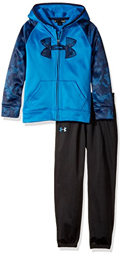 Under Armour Boys' Little Active Hoodie and Pant Set, Cruise Blue, 4