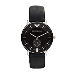 40 mm case, 20 mm band width, mineral crystal, Quartz movement with an analog display, imported Round stainless steel case, with a black dial Quartz Movement Case Diameter: 40mm Water resistant to 50m (165ft: in general, suitable for short periods o...