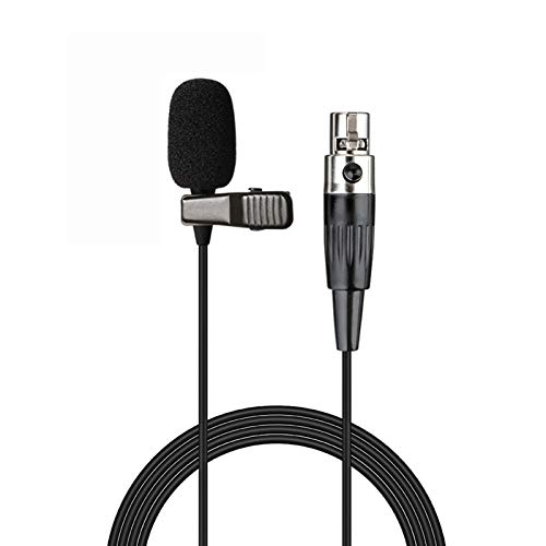 Sujeetec Micrófono de Solapa Micrófono Solapa Compatible con AKG Sansón Transmisor inalámbrico - Unidireccional Condensador Mini Lavalier Micrófono - Enchufe Mini XLR TA3F