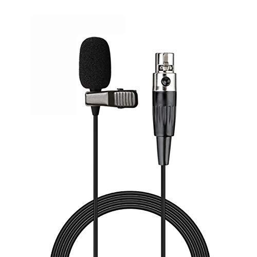 Sujeetec Micrófono de Solapa Micrófono Solapa Compatible con Shure Transmisor inalámbrico - Unidireccional Condensador Mini Lavalier Micrófono - Enchufe Mini XLR TA4F