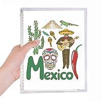 メキシコの国家の象徴のランドマークのパターン 硬質プラスチックルーズリーフノートノート