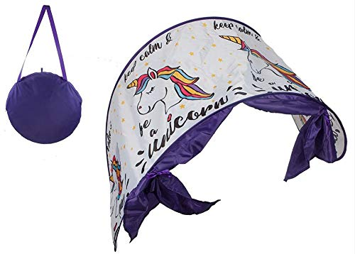 Pop Up Magical Unicorn Bed Canopy Night Dream Screen Bed Tunnel Tent Age 3+