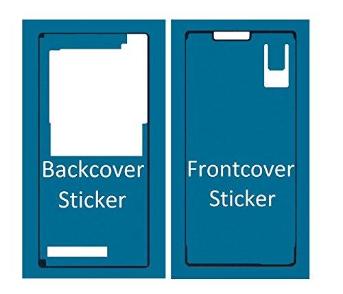 MMOBIEL Sticker Set Für Sony Xperia Z3 Front + Rückseite Backcover doppelseitiger Kleber Glue zum befestigen von LCD Front und Akkudeckel inkl. Tuch und 2er Set Wet & Dry Reinigungs Pads