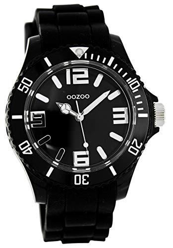 Oozoo Timepieces - XL Damenuhr mit Kautschukband - C4174 schwarz