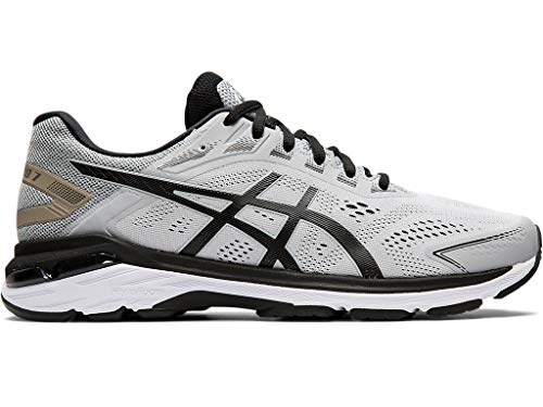 ASICS Men's GT-2000 7 Running Shoes, 11M, MID Grey/Black