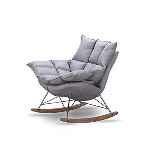 SHUILV Silla Mecedora del sofá, cojín Desmontable para Invierno y Verano Dual-sillón reclinable (Color: Gris)