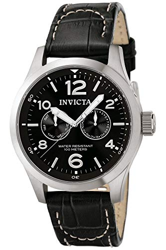 Invicta II Men's 0764 Stainless Steel Watch with Black Leather B