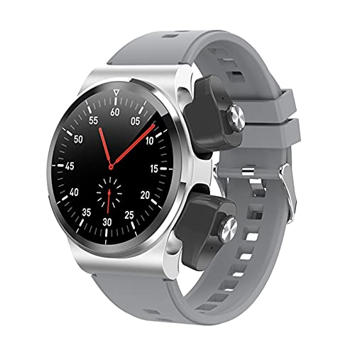 Ake TWS Ladies Wireless Bluetooth Auricolare Smart Watch Smart Orologio da 1,28 Pollici Bluetooth Call Meteo Frequenza Cardiaca Tracker GT69 per Android iOS,B