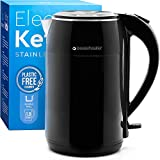 Sweetwater Electric Kettle - 100% Plastic-Free Interior with Exclusive PureCover Lid, Stainless Steel Leak-Proof Chamber, and Lightning Speed Auto Shut-Off Base - 1.8L