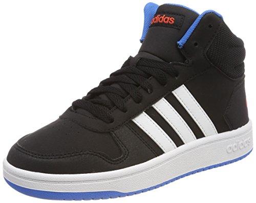 Adidas Hoops Mid 2.0 K, Zapatillas de Deporte Unisex Adulto, Negro (Negbás/Ftwbla/Azubri 000), 39 1/3 EU