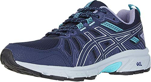 ASICS Women's Gel-Venture 7 Running Shoes, 8M, Black/Silver