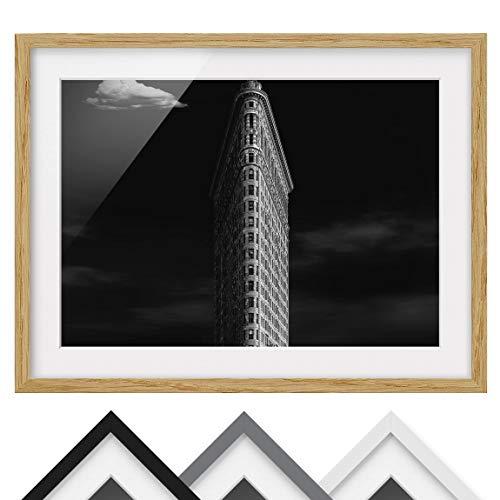 Póster Enmarcado - Flatiron Building - Color de Marco Madera de encina 70x100 cm