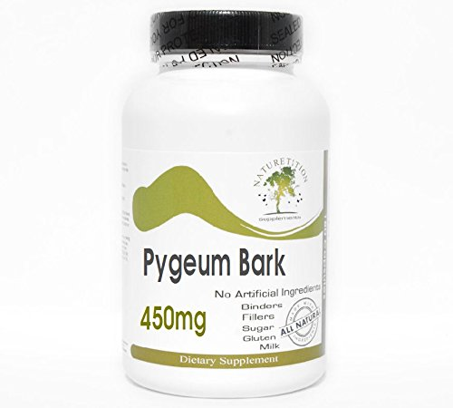 Pygeum Bark 450mg ~ 200 Capsules - No Additives ~ Naturetition Supplements