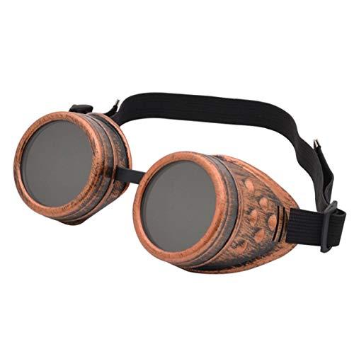 YXDS Gafas Steam Gafas de Sol Unisex Gafas Soldadura Gafas Vintage Cosplay Gafas góticas para Exteriores Gafas de Moda