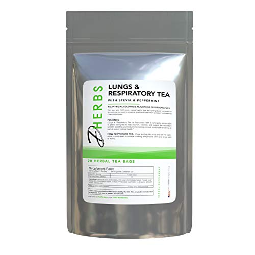 Dherbs Lungs & Respiratory System Herbal Tea with Peppermint and Fenugreek, 40 g.