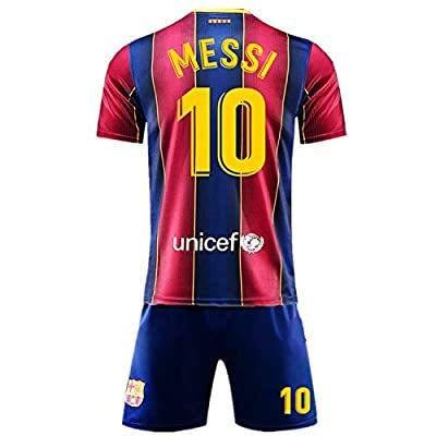 SALLARM Messi #10 Home 2020/2021 Season Kids Youth Sport T-Shirts & Shorts
