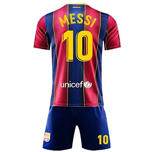 SALLARM Messi #10 Home 2020/2021 Season Kids Youth Sport T-Shirts & Shorts