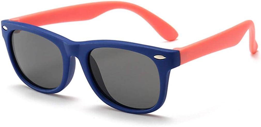 Kids Polarized Sunglasses TPEE Rubber Flexible Frame for Boys Girls Age 3-10, 100% UV Protection