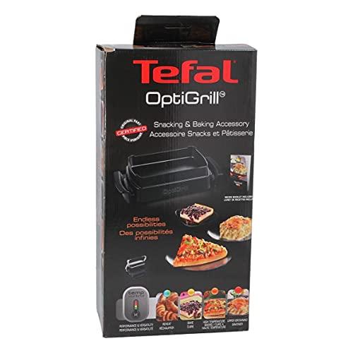 Tefal Backschale XA7258 für OptiGrill+ Inkl Rezeptbuch, Volumen 1,6 Liter, Antihaftbeschichtung, Aluminiumdruckguss Wärmeisolierte Griffe, Leichte Reinigung, Spülmaschinengeeignet