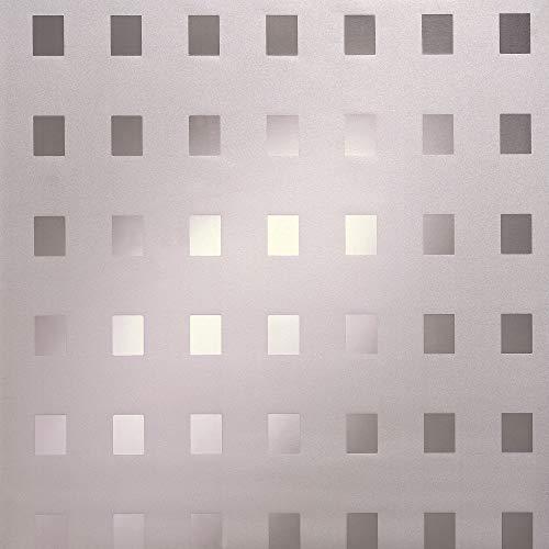 D-c-fix 338-8010 Film électrostatique sans adhésif pour vitrage 67,5 x 150 cm Blanc à carrés