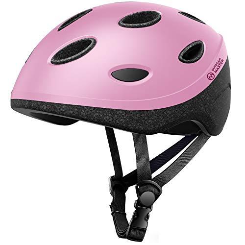 OutdoorMaster Alien Kids & Youth Bike Helmet - Lightweight 0.57lb 2-Size Adjustable for Bicycle, Scooter, Skateboard, Balance Bike for Kids 3-12 Years Old Boys Girls - Pink - M