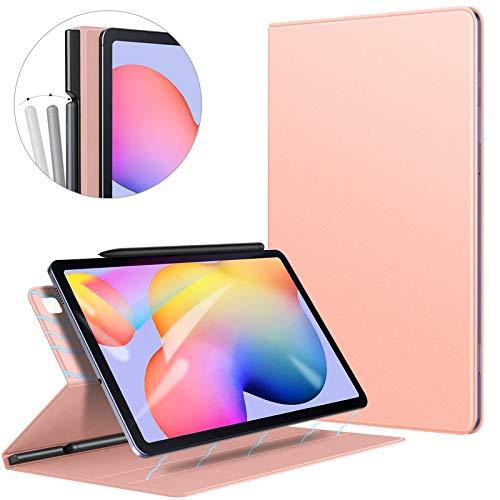 ZtotopHülle Hülle für Samsung Galaxy Tab S6 Lite,Ultra dünn Smart Magnetisches Abdeckung Schutzhülle mit Stifthalter,Automatischem Schlaf/Aufwach,für Samsung S6 Lite 10.4 Zoll 2020 Tablette,Roségold