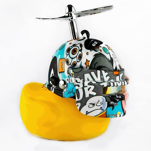 AOMOSA Duck Bike Bell,Cute Yellow Rubber Ducky Bicycle Horn Accessories with Press...