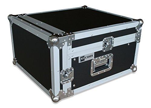 Winkelrack 3/10 HE Flightcase Case Rack DJ Mixer CD Player, Schwarz