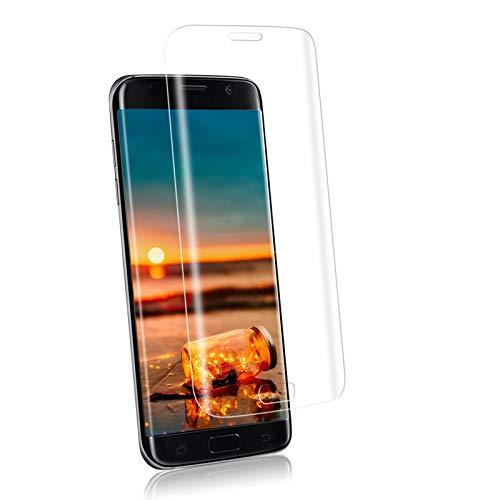 YIEASY Cristal Templado para Samsung Galaxy S7 Edge, 9H Dureza 3D Cobertura Completa Vidrio Templado, Alta Sensibilidad, Sin Burbujas Protector de Pantalla para Samsung Galaxy S7 Edge