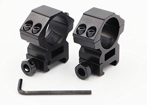 25.4mm Mittleres Profil Umfang Zielfernrohr Ringe montieren für 20mm Picatinny Weaver Rail für die Jagd (2er Set)