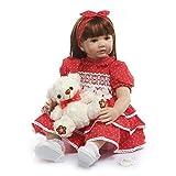 MaMaDolls Hecho a mano Reborn bebé princesa niña muñeca 24 pulgadas 60 cm realista reborn bebé muñeca adorable muñeca niños desgaste modelo coleccionable juguete