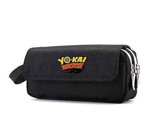 Yo-Kai Watch Mochila Unisex-Baby Simple y práctico Caso de lápiz Zipper Bolsa de almacenamiento Creativo Bolso de lápiz adecuado para varios usos de las escuelas de estudiantes Caja de lápiz de alta c