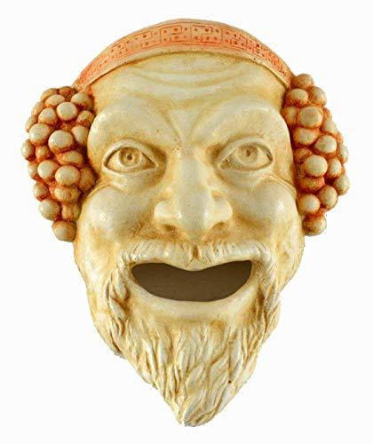 Dionysos pequeña máscara–Dioniso dios del vino Ritual locura y éxtasis–Teatro griego de la Antigüedad